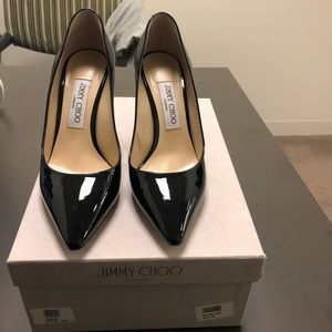 Jimmy Choo Romy 85 Patent Leather Pumps Size 38